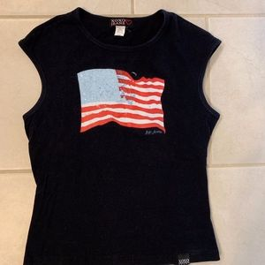 VGUC XOXO Jeans American Flag Top Size M